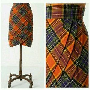 Anthropologie Plenty Tracy Reese tartan skirt